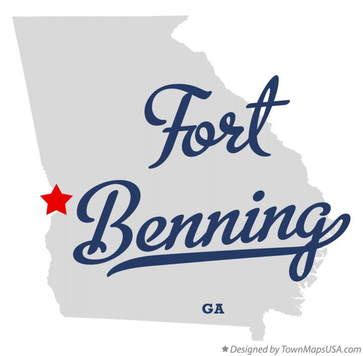 Map of Fort Benning Georgia GA