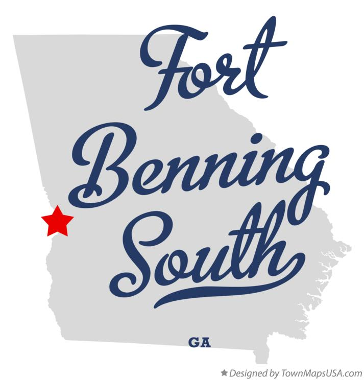 Map of Fort Benning South Georgia GA