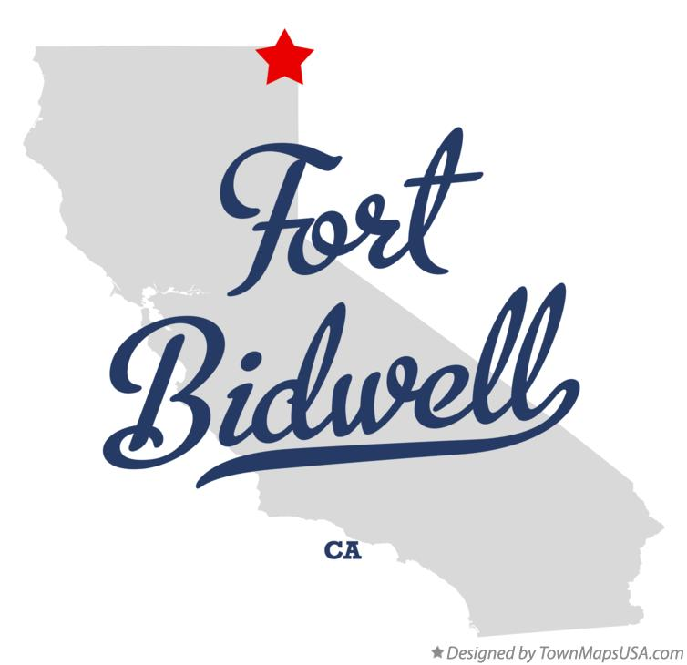 Map of Fort Bidwell California CA