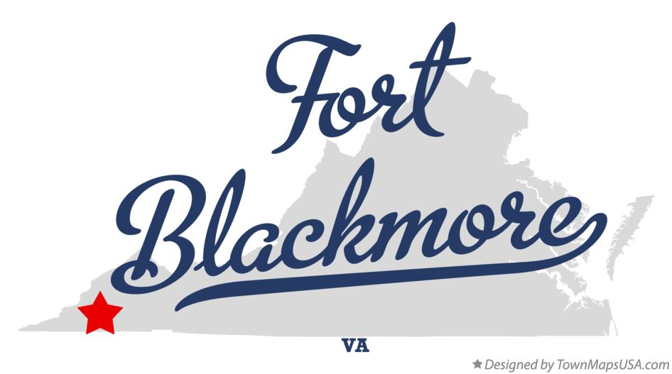 Map of Fort Blackmore Virginia VA