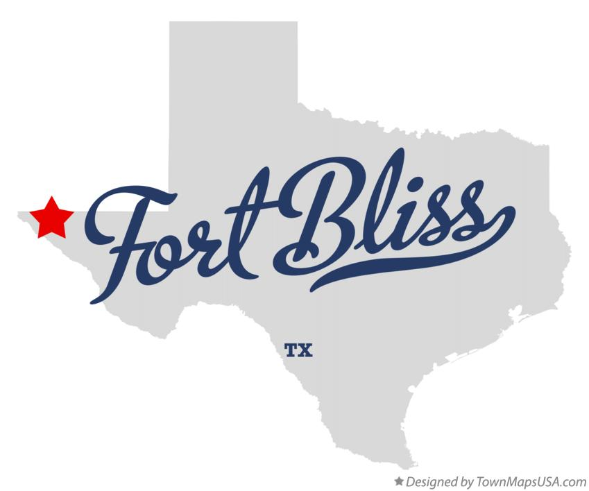 Map of Fort Bliss Texas TX