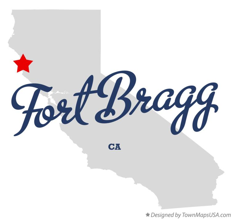 Map of Fort Bragg California CA
