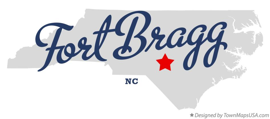Map of Fort Bragg North Carolina NC
