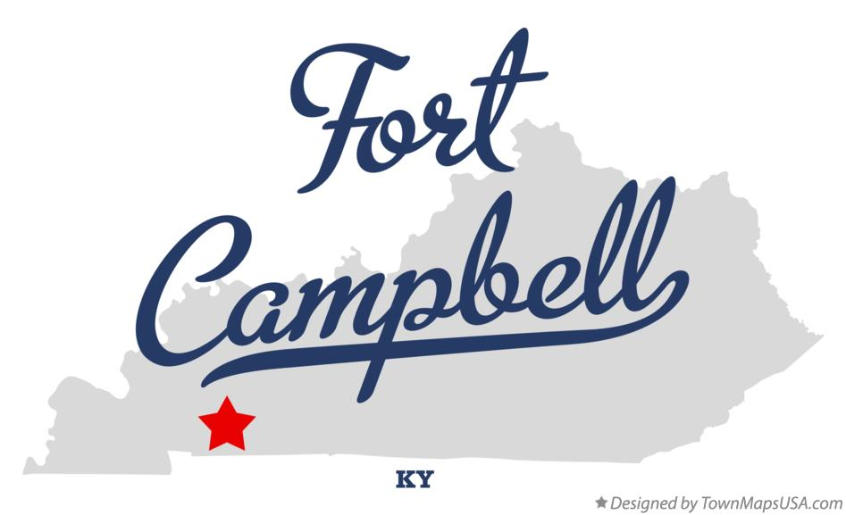 Map of Fort Campbell, KY, Kentucky