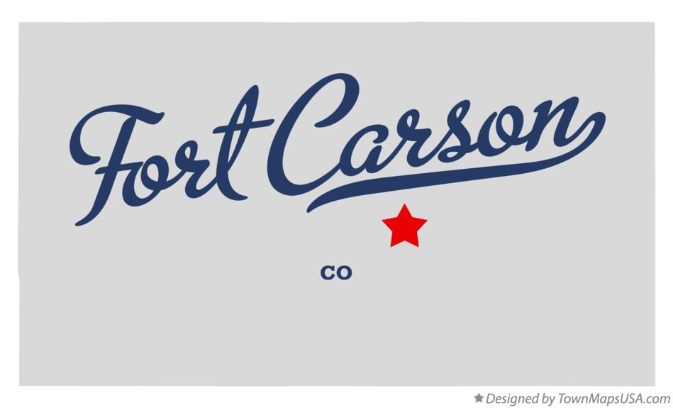 Map of Fort Carson Colorado CO