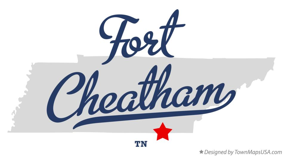 Map of Fort Cheatham Tennessee TN