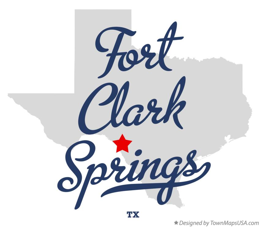 Map of Fort Clark Springs Texas TX
