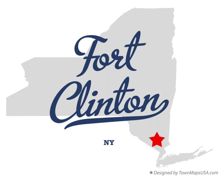 Map of Fort Clinton New York NY