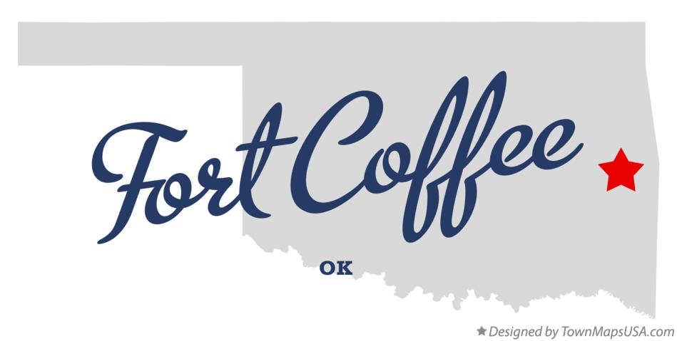 Map of Fort Coffee Oklahoma OK