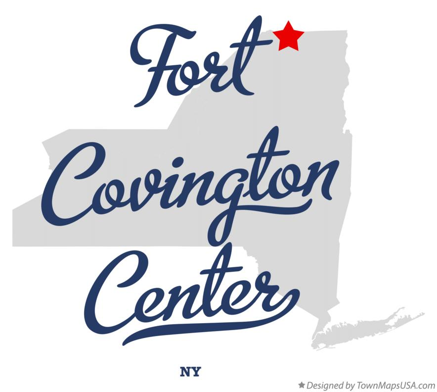 Map of Fort Covington Center New York NY