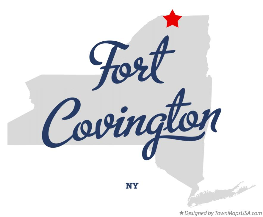 Map of Fort Covington New York NY