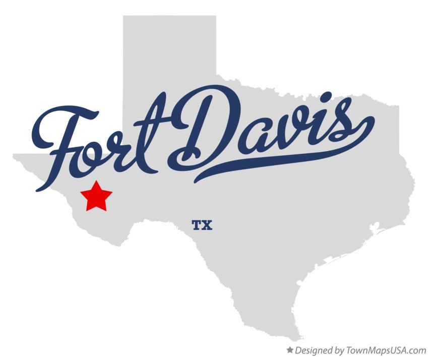 Map of Fort Davis Texas TX