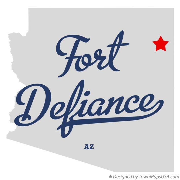 Map of Fort Defiance Arizona AZ