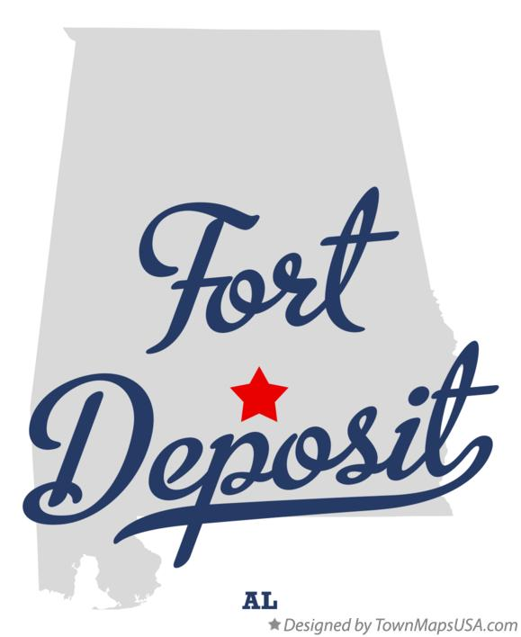 Map of Fort Deposit Alabama AL
