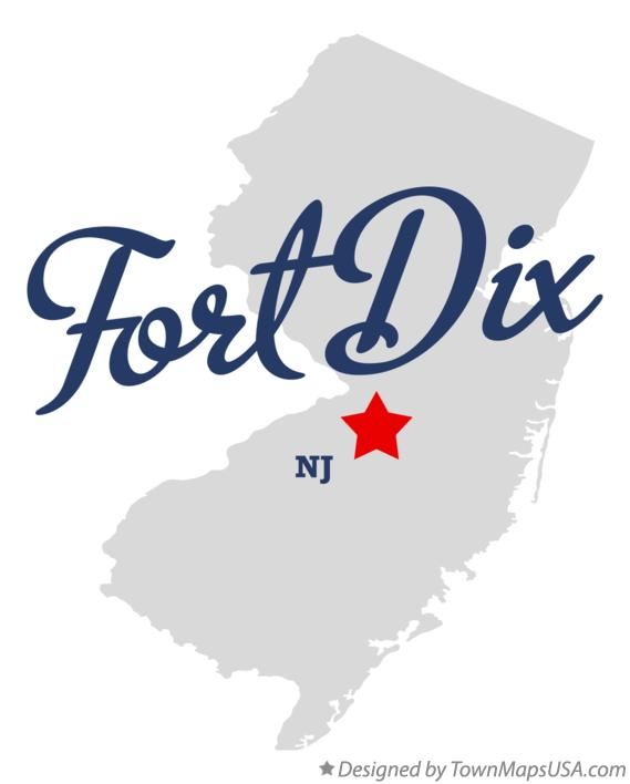 Map of Fort Dix New Jersey NJ