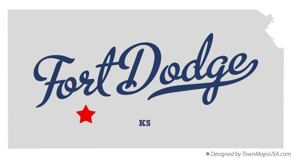 Map of Fort Dodge Kansas KS