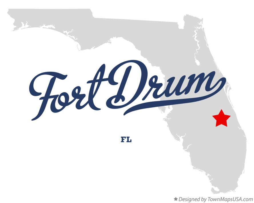 Map of Fort Drum Florida FL