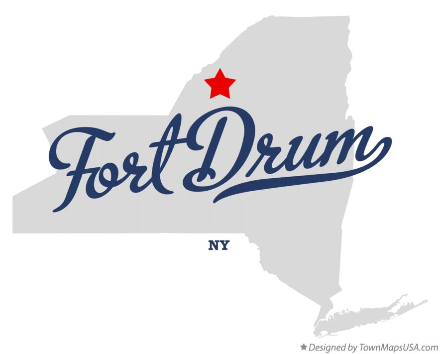 Map of Fort Drum New York NY