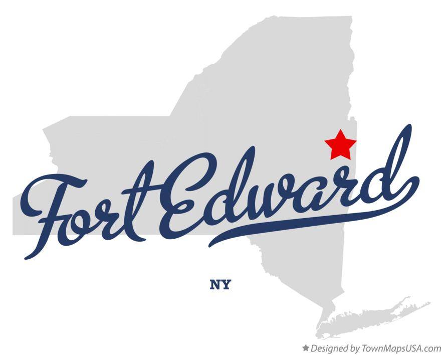 Map of Fort Edward New York NY