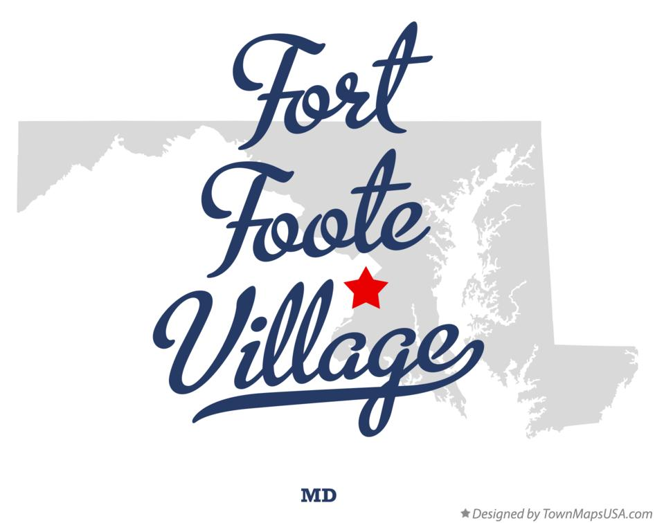 Map of Fort Foote Village Maryland MD
