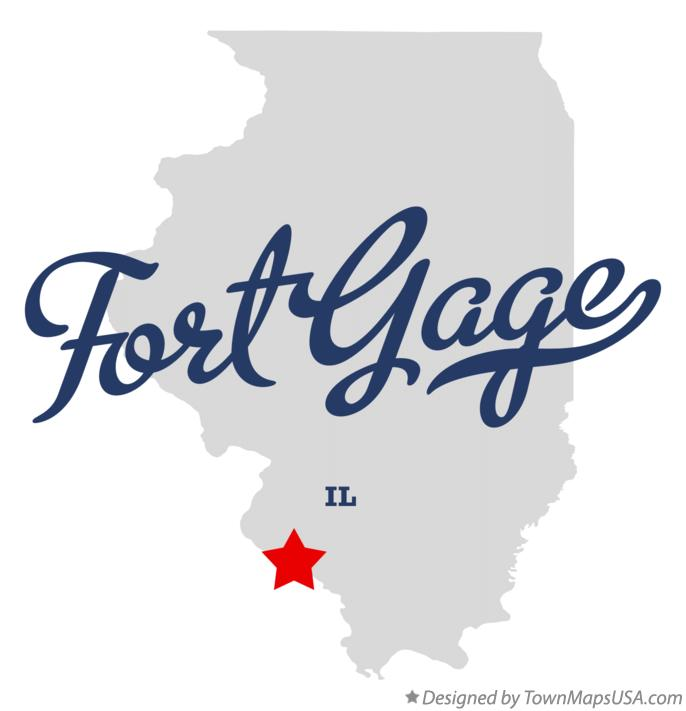 Map of Fort Gage Illinois IL