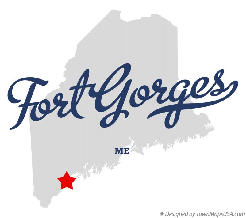 Map of Fort Gorges Maine ME