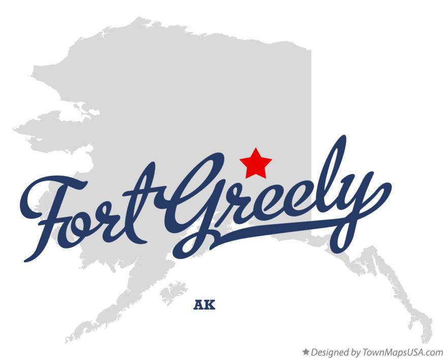 Map of Fort Greely Alaska AK