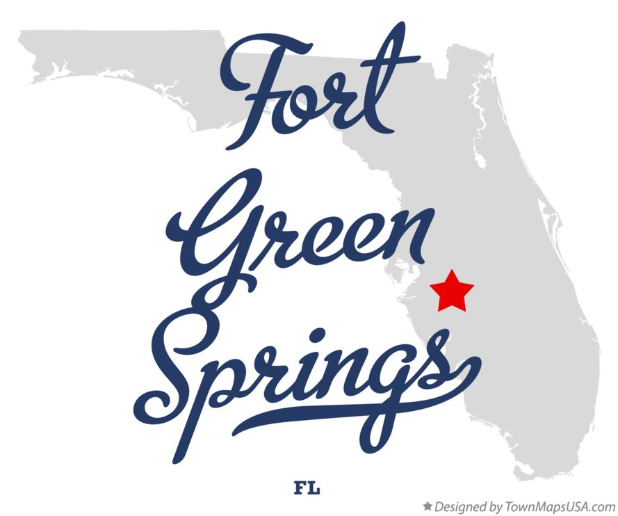 Map of Fort Green Springs Florida FL