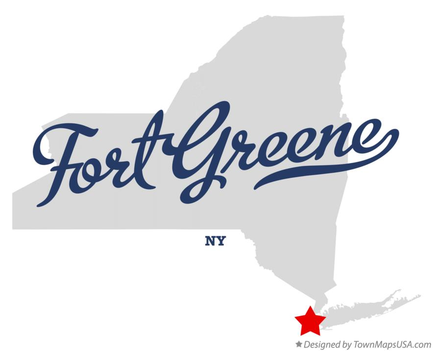 Map of Fort Greene New York NY