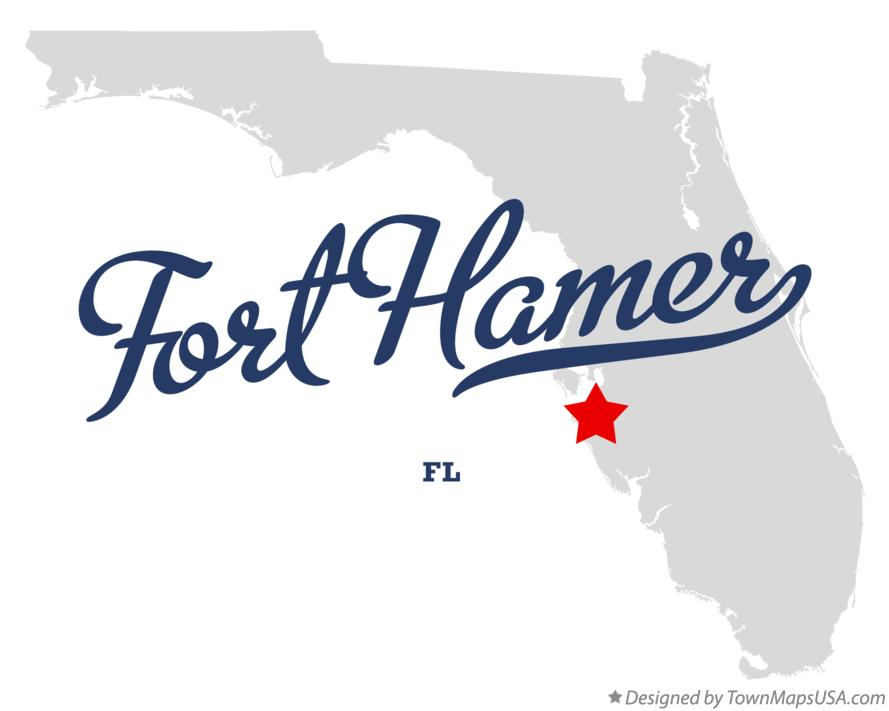 Map of Fort Hamer Florida FL