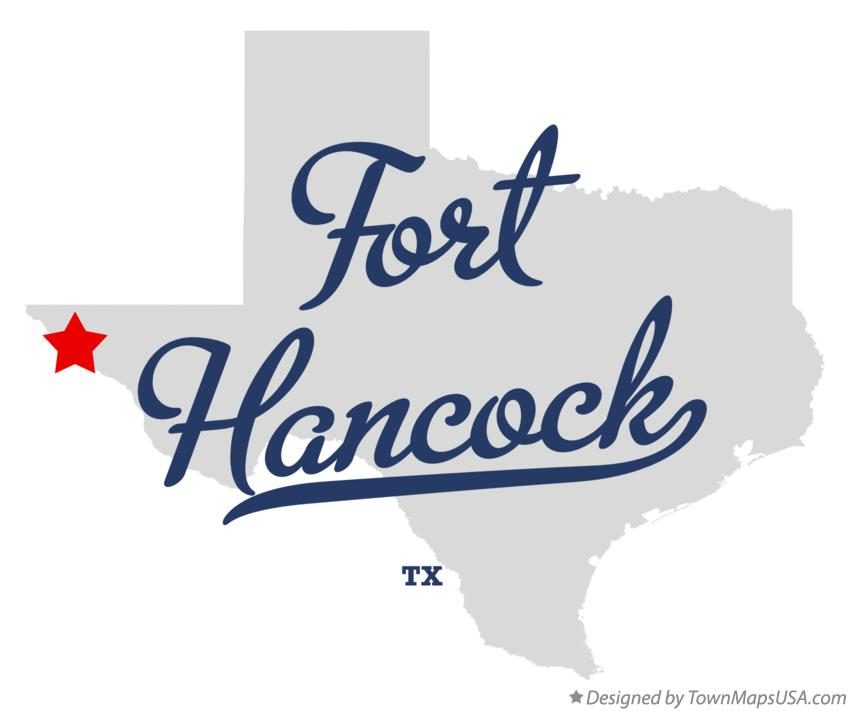 Map of Fort Hancock Texas TX