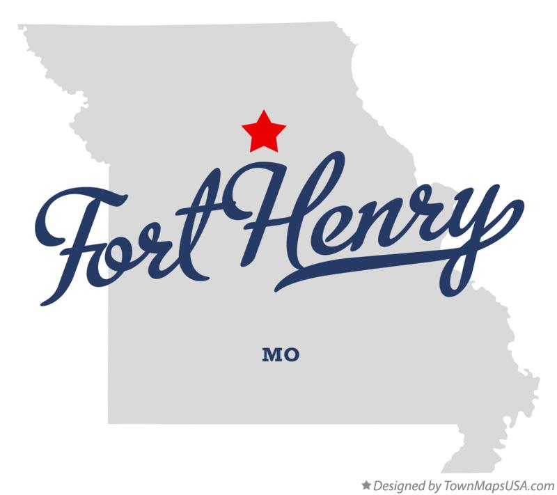 Map of Fort Henry Missouri MO