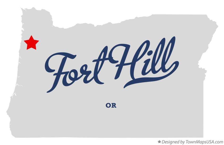 Map of Fort Hill Oregon OR