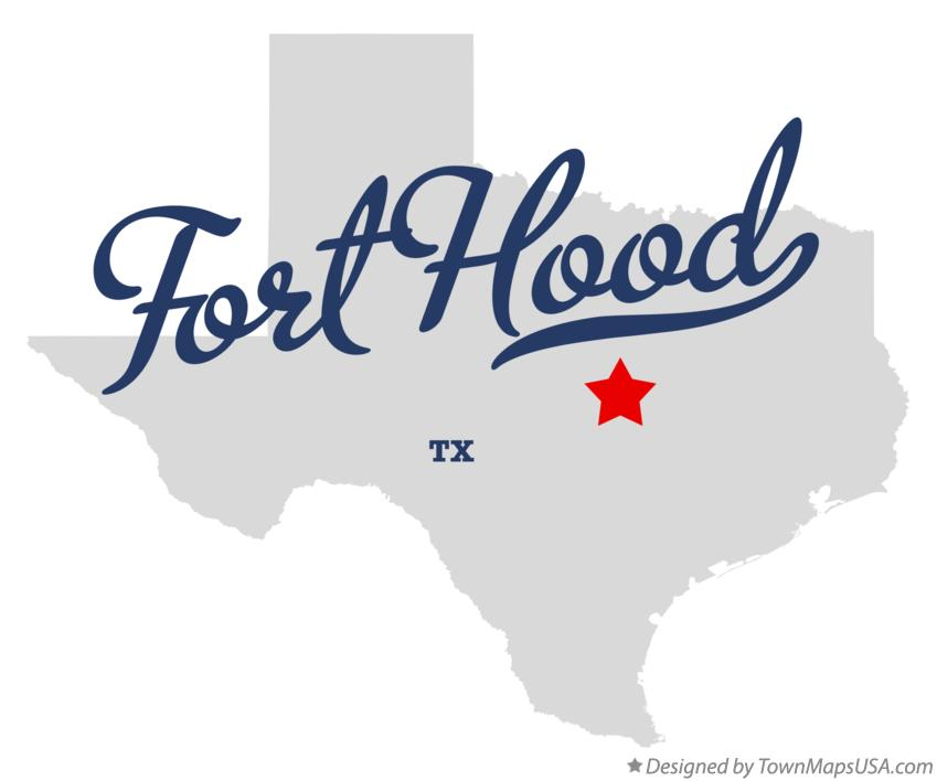 Map of Fort Hood Texas TX