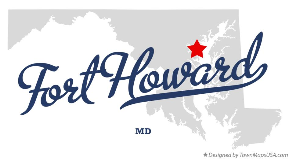 Map of Fort Howard Maryland MD
