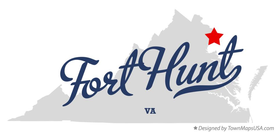 Map of Fort Hunt Virginia VA