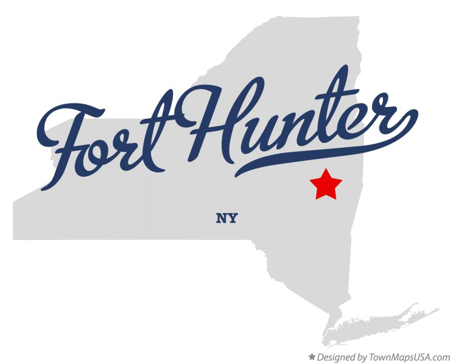Map of Fort Hunter New York NY