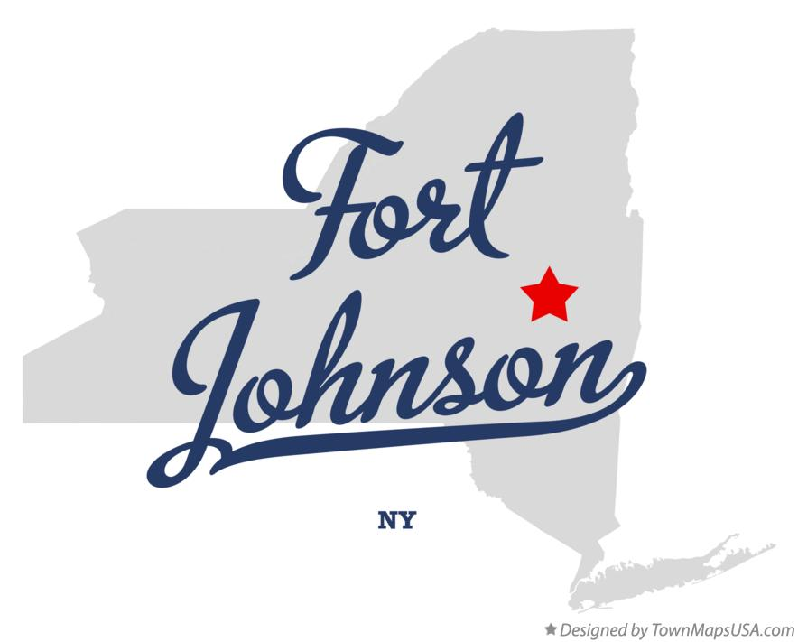 Map of Fort Johnson New York NY