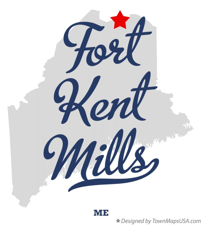 Map of Fort Kent Mills Maine ME