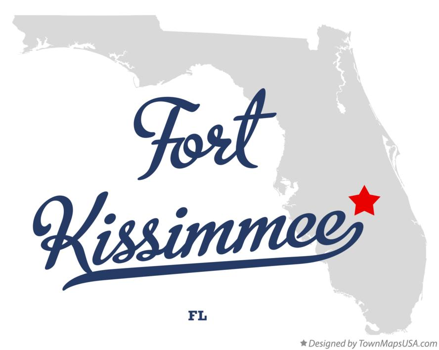 Map of Fort Kissimmee Florida FL