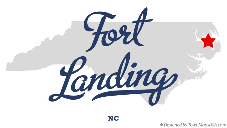 Map of Fort Landing North Carolina NC