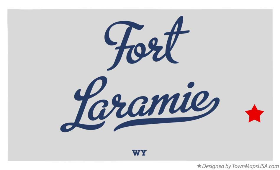 Map of Fort Laramie Wyoming WY