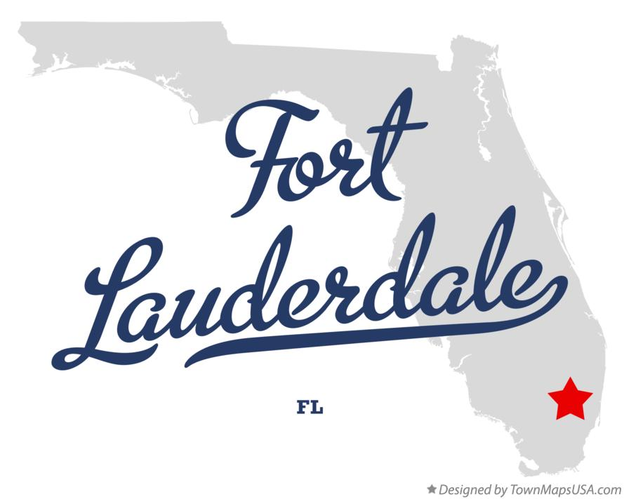 Ft Lauderdale On Map Of Florida.Map Of Fort Lauderdale Fl Florida
