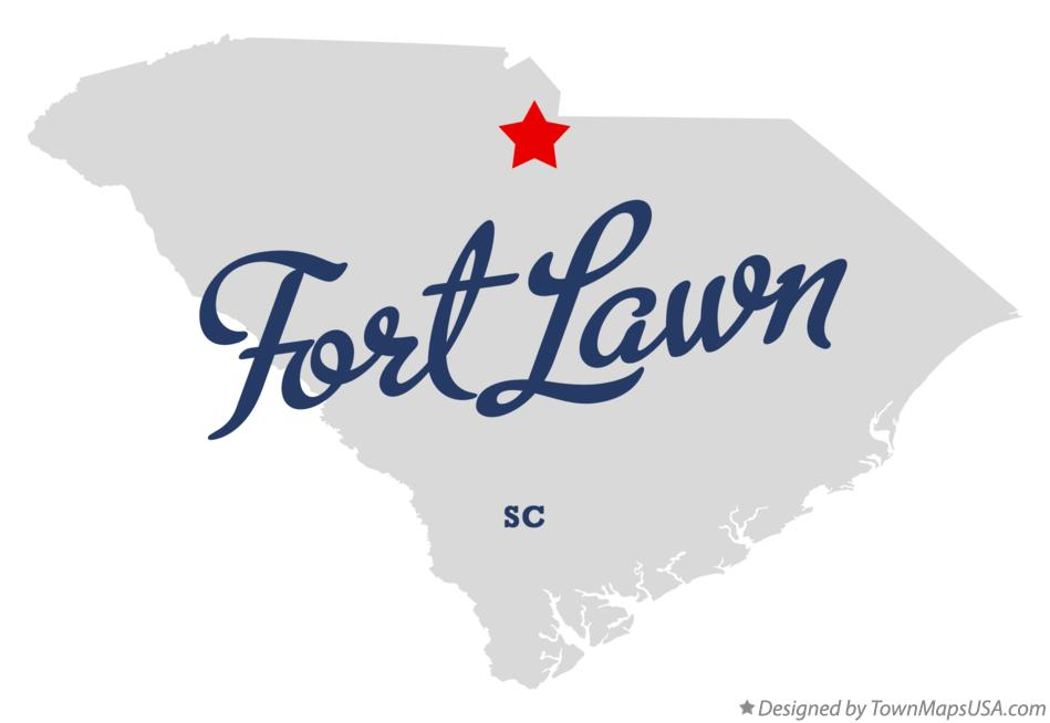 Map of Fort Lawn South Carolina SC