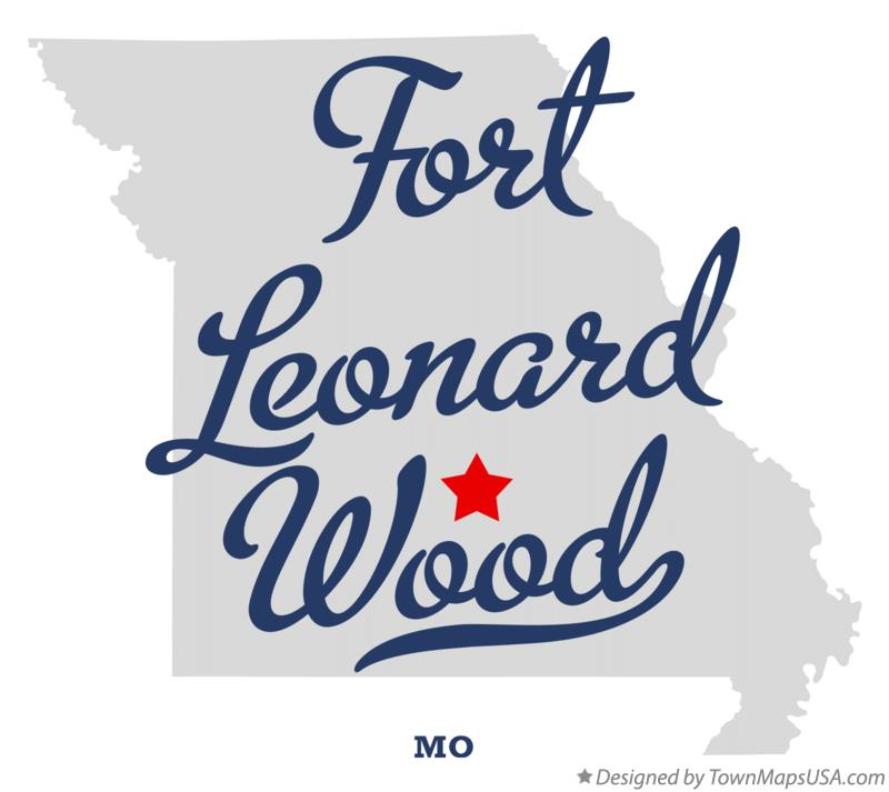 Map of Fort Leonard Wood Missouri MO