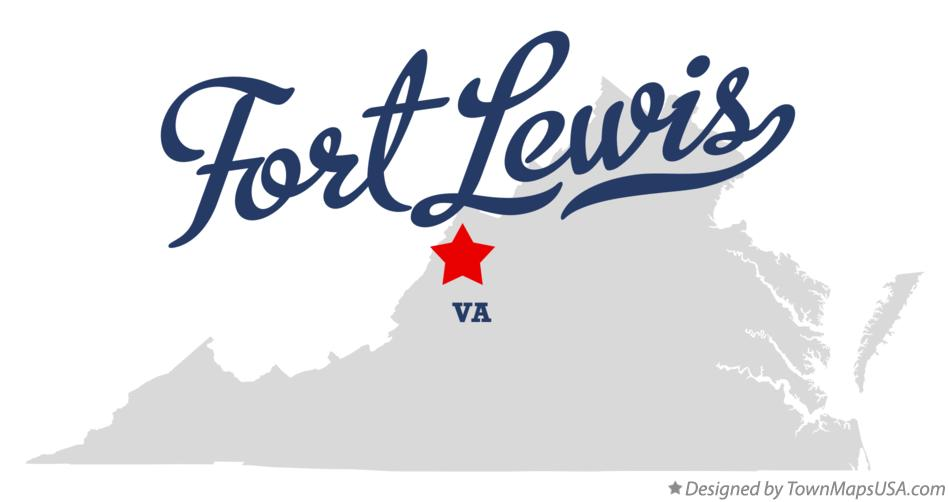 Map of Fort Lewis Virginia VA