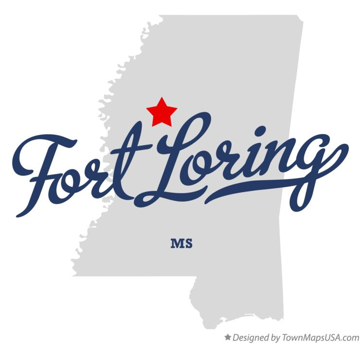 Map of Fort Loring Mississippi MS