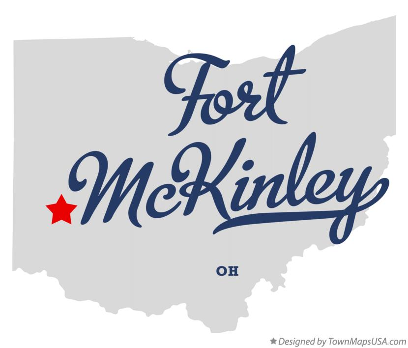 Map of Fort McKinley Ohio OH