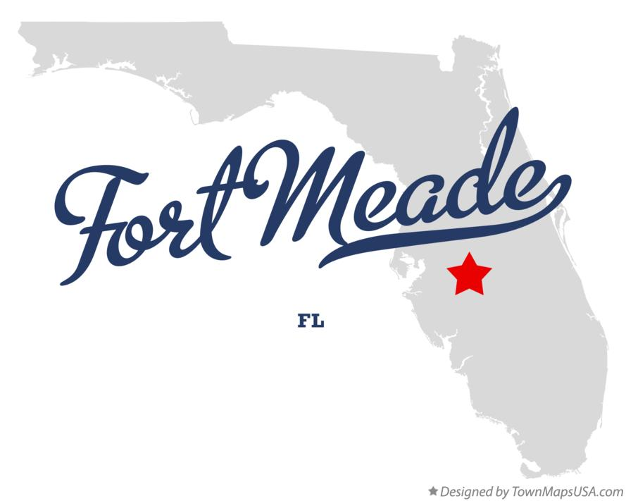 Map of Fort Meade Florida FL