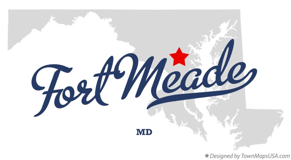 Map of Fort Meade Maryland MD